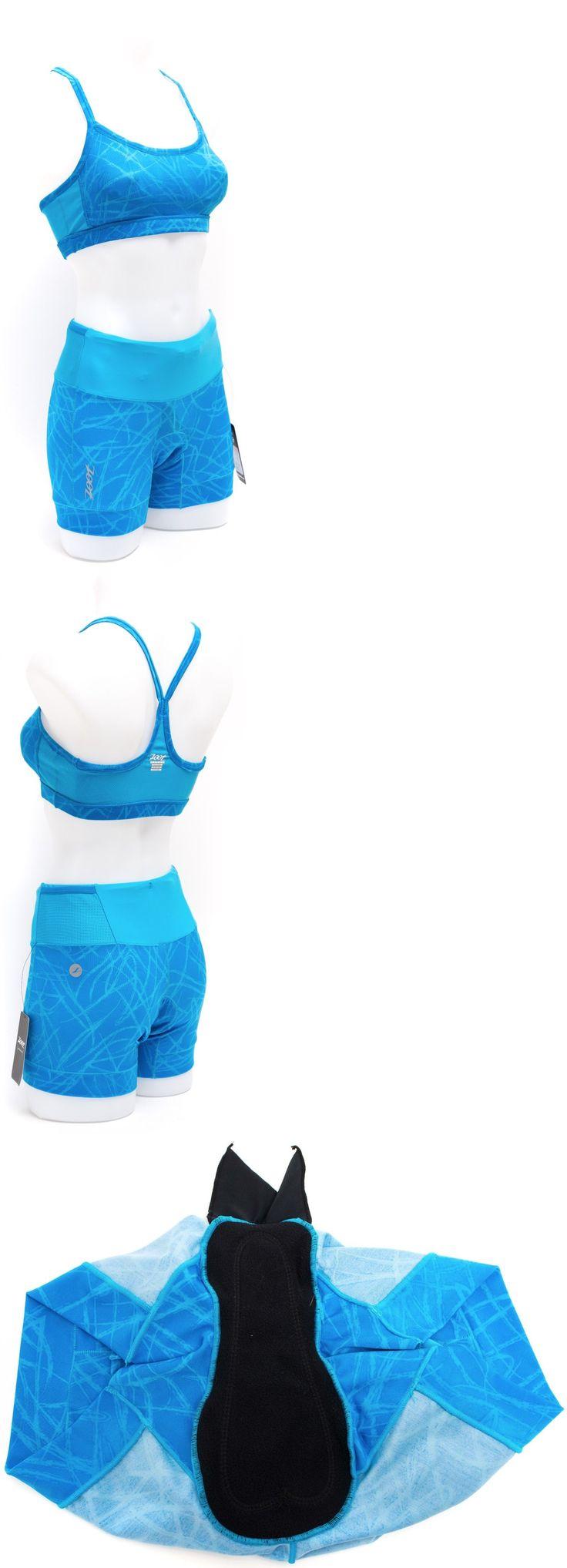 Triathlon 2918: Zoot Women Performance Tri Top + Performance Tri 4 Medium Shorts Mali Blue New -> BUY IT NOW ONLY: $39.95 on eBay!