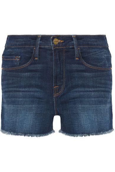 FRAME - Le Cutoff Stretch-denim Shorts - Dark denim - 30