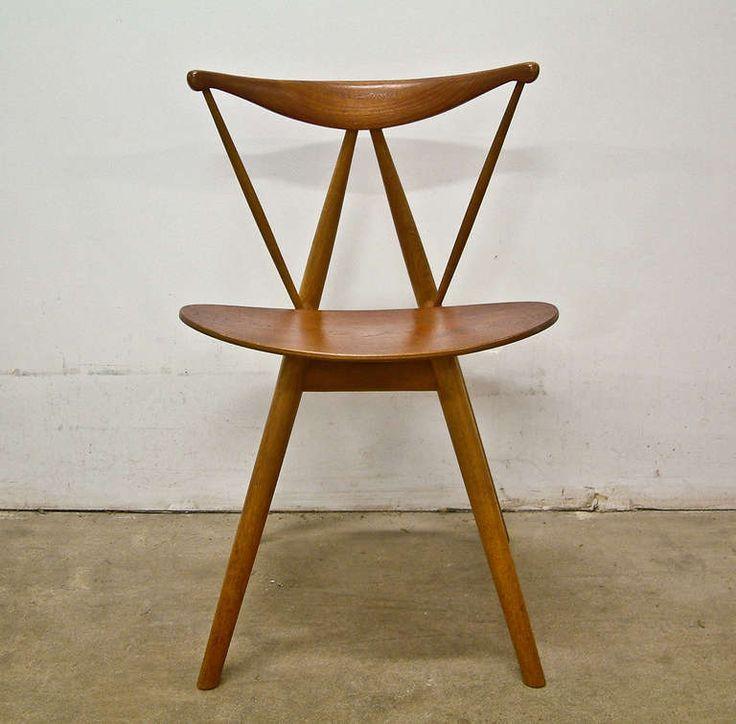 "Vilhelm Wohlert Teak and Oak ""Piano"" Chair for Illums Bolighus"