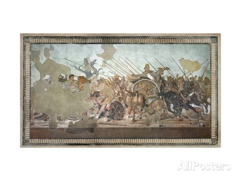 The Alexander Mosaic, Depicting the Battle of Issus Between Alexander the Great Giclee Print by Roman at AllPosters.com