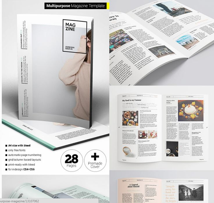 20 best images about 18 Magazine Templates With Creative Print ...