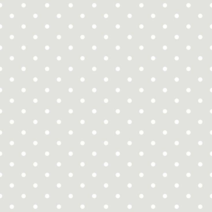 BorasTapeter 1622 Polka - Papel pintado no tejido, color gris con lunares…