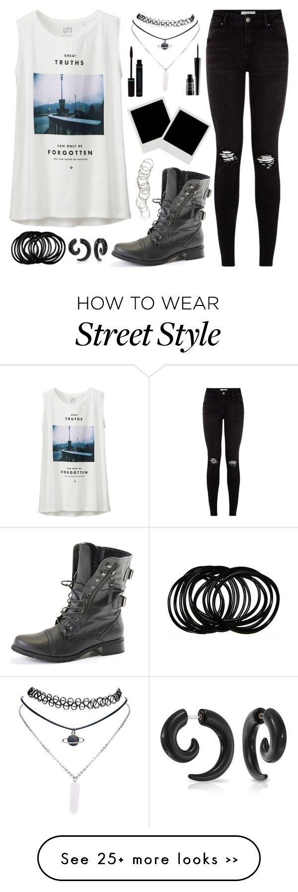 """""""street style"""" by aoihikarianna on Polyvore featuring Uniqlo, Wet Seal, Bling Jewelry, H&M and Lord & Berry"""