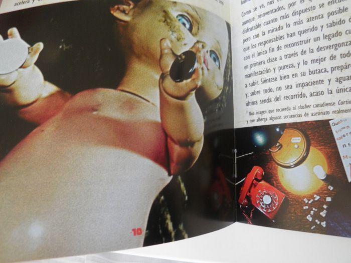 Interior del libreto del DVD de Francesca
