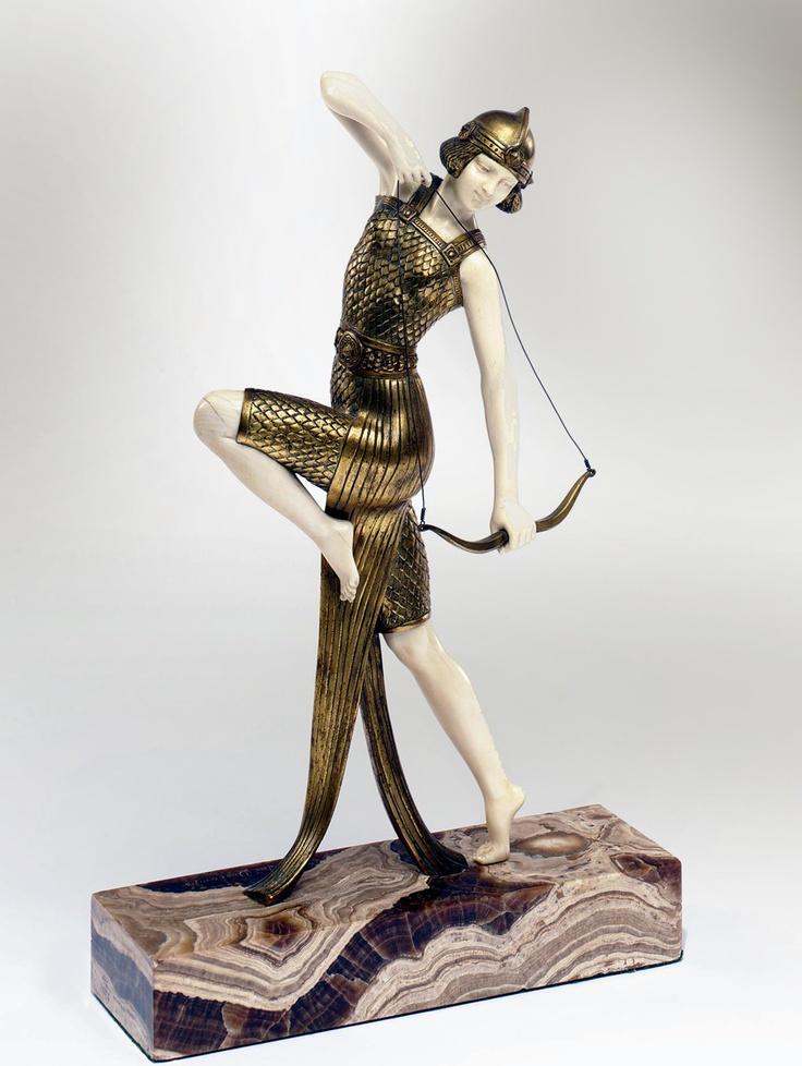 a bronze and ivory by joe descomps danseuse l 39 arc france circa 1925 pinterest. Black Bedroom Furniture Sets. Home Design Ideas