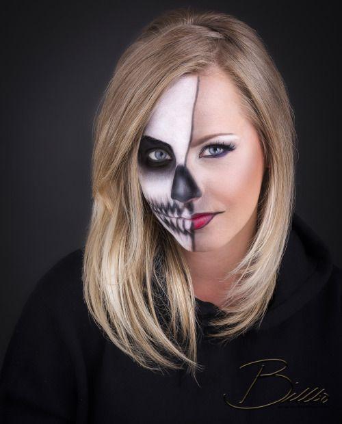 Twoface skull makeup by @makeupgeekdelux. www.Billbo.no
