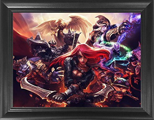 "League of Legends Framed 3D Lenticular Poster -Katrina, Teemo, Kayle, Warwick, Ashe - 14.5x18.5"" - Unbelievable Life Like Framed 3D Art Pictures, Cool Art Deco, Unique Wall Art Décor, LOL Fan Art #League #Legends #Framed #Lenticular #Poster #Katrina, #Teemo, #Kayle, #Warwick, #Ashe #.x."" #Unbelievable #Life #Like #Pictures, #Cool #Deco, #Unique #Wall #Décor,"
