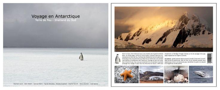Livre Voyage en Antarctique, couverture et 4ème de couverture