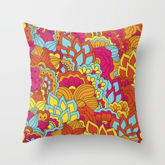#shabby #flowers #floral #pillow Available in different #giftideas products. Check more at society6.com/julianarw