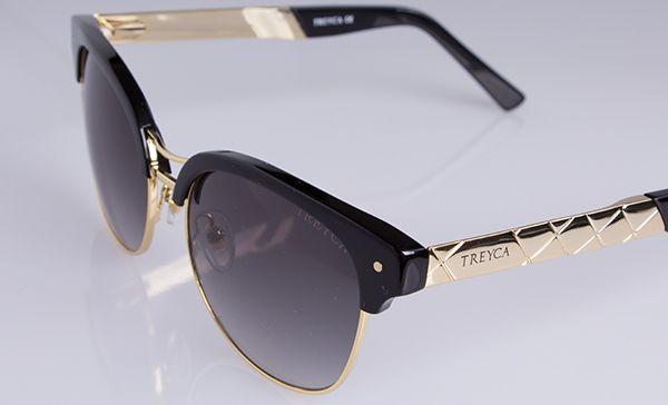 Treyca Clubmaster 18 carat gold plated sunglasses. #Treyca #Sunglasses
