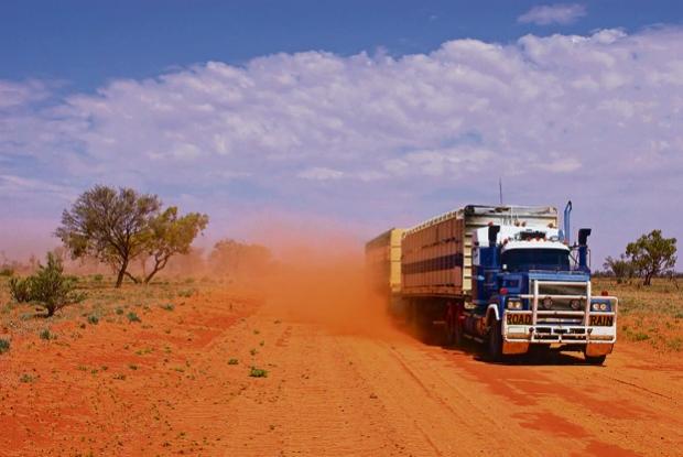 Roadtrain Queensland Outback