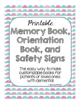 Printable Memory & Orientation Book with Safety Signs