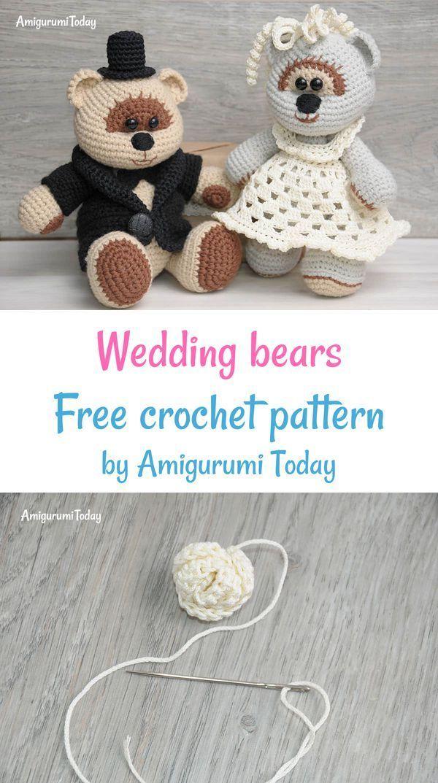 Amigurumi Wedding Bears Crochet Pattern Crochet Animal Patterns