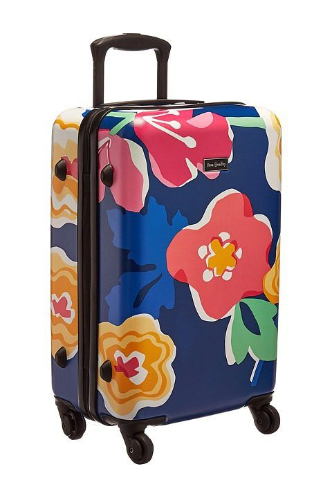 Vera Bradley Luggage Small Hardside Spinner (Grande Santiago Floral) Luggage - Vera Bradley Luggage, Small Hardside Spinner, 15932-H34, Bags and Luggage General, Luggage, Luggage, Bags and Luggage, Gift, - Street Fashion And Style Ideas