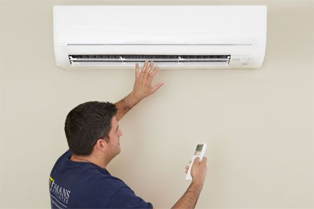 A mini-split AC heat pump is an easy-install way to provide cooling and heating without ducts—and no window units