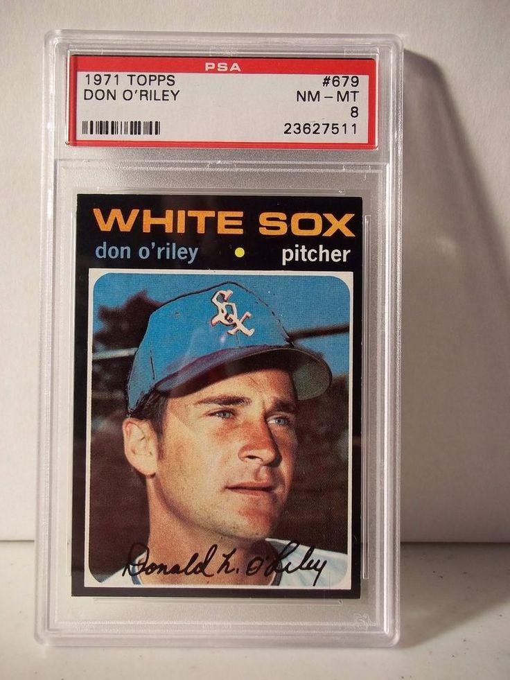 1971 topps don oriley psa graded nmmt 8 baseball card
