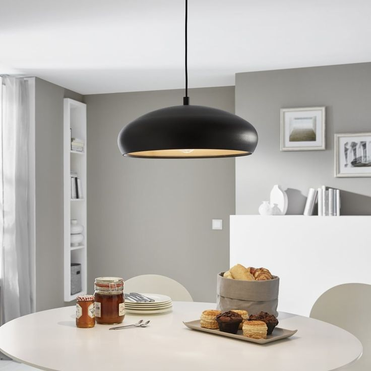 Eglo black and copper mogano 1 pendant light kitchen lighting from dusk lighting uk