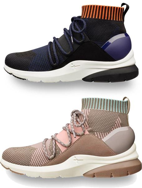 Preview of the upcoming couture styled sneakers of the 'Fashletics by  Tamaris' collection Fall/Winter 2017. The design of the sneakers appears  like couture ...