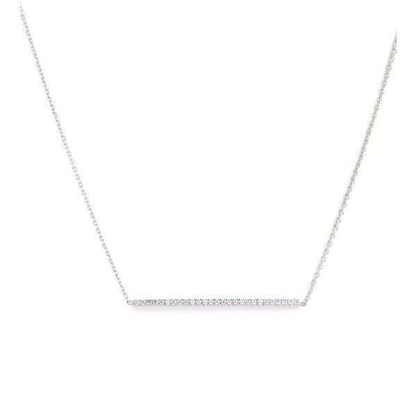 Women's Roberto Coin Tiny Treasures Diamond Bar Necklace (€1.035) ❤ liked on Polyvore featuring jewelry, necklaces, yellow gold, diamond bar pendant necklace, layered bar necklace, stud necklace, diamond jewelry and pendant necklace