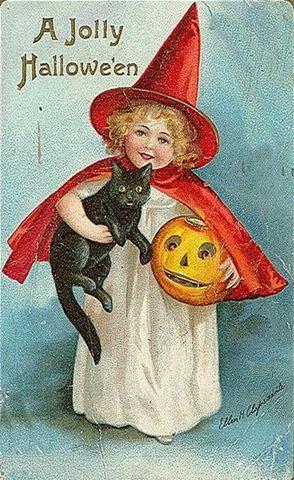 Google Image Result for http://vintageholidaycrafts.com/wp-content/uploads/2008/07/vintage-halloween-little-girl-red-cape-black-cat-pumpkin-card1.jpg