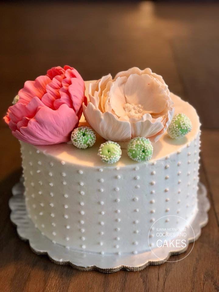 Pastel para mamá, amigas, fondant flores pasta de goma.