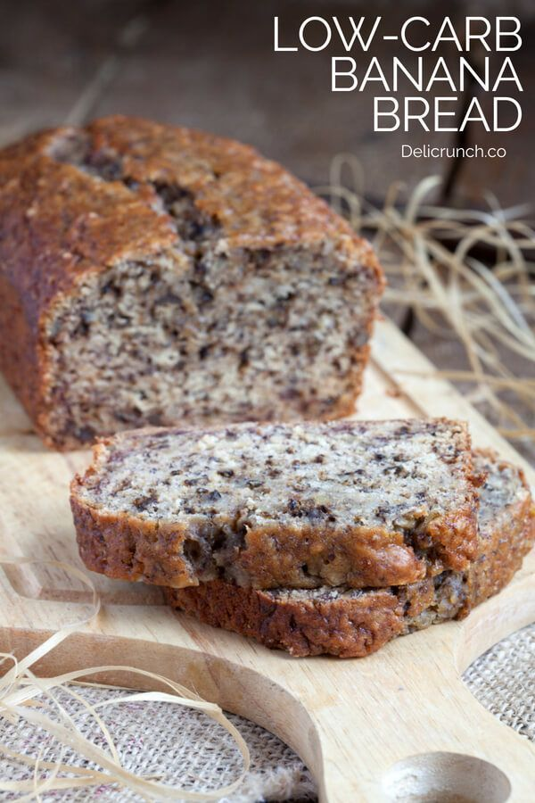 Easy and healthy banana bread recipe. Low carb and keto friendly bread using ban…