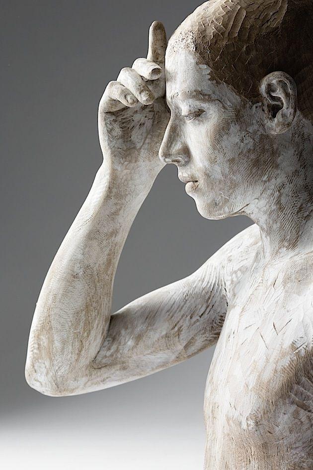 Hölzerne Menschen von Bruno Walpoth | Wood sculpture ...