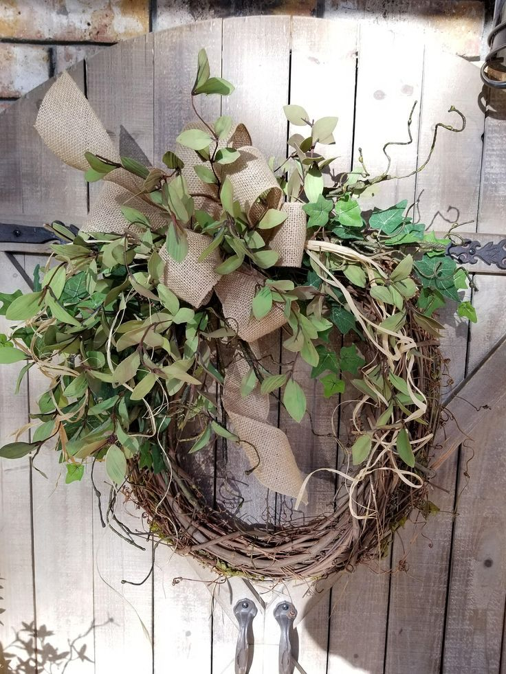 BEST SELLER Front door wreath, Greenery Wreath - Wreath Great for All Year Round - Everyday Burlap Wreath, Door Wreath, Front Door Wreath by FarmHouseFloraLs on Etsy