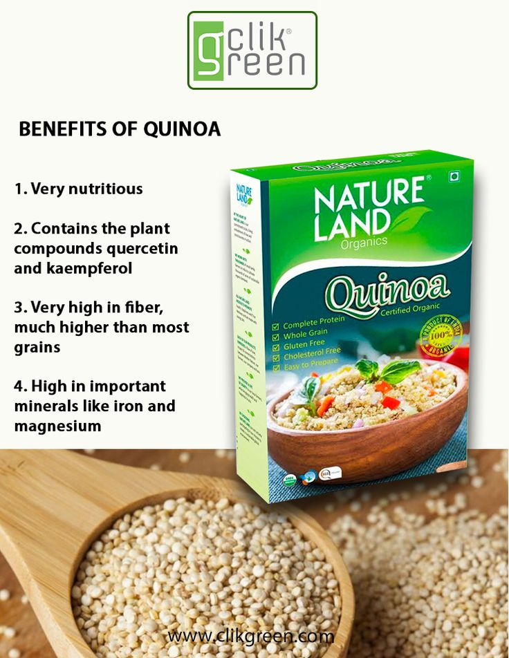 Benefit of Quinoa: 1. Very Nutritious. 2. Contains the plant compounds quercetin & kaempferol. 3. Very high in fiber, much higher than most grains. 4. High in important minerals like iron and magnesium. #Organicfood #Eathealthy #Stayhealthy #Quinoa #Clikgreen