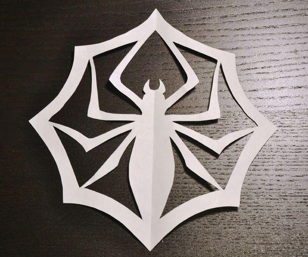 Jack Skellington papír Spider Snowflake (s obrázky)