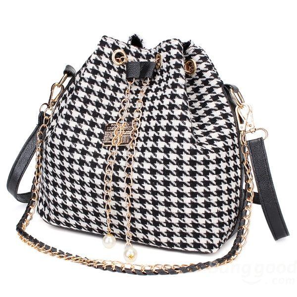 Bolsas Femininas de lona cordão de ombro bolsas crossbody bolsas - R$75.90