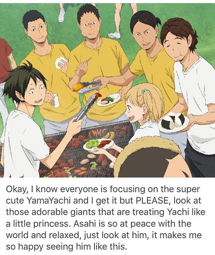 haikyuu cute yamaguchi yachi asahi