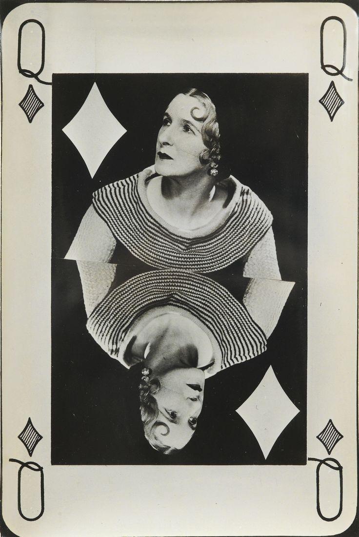 "Man Ray 1890 - 1976 'VALENTINE HUGO AS ""QUEEN OF DIAMONDS""', 1935 VINTAGE SILVER PRINT."