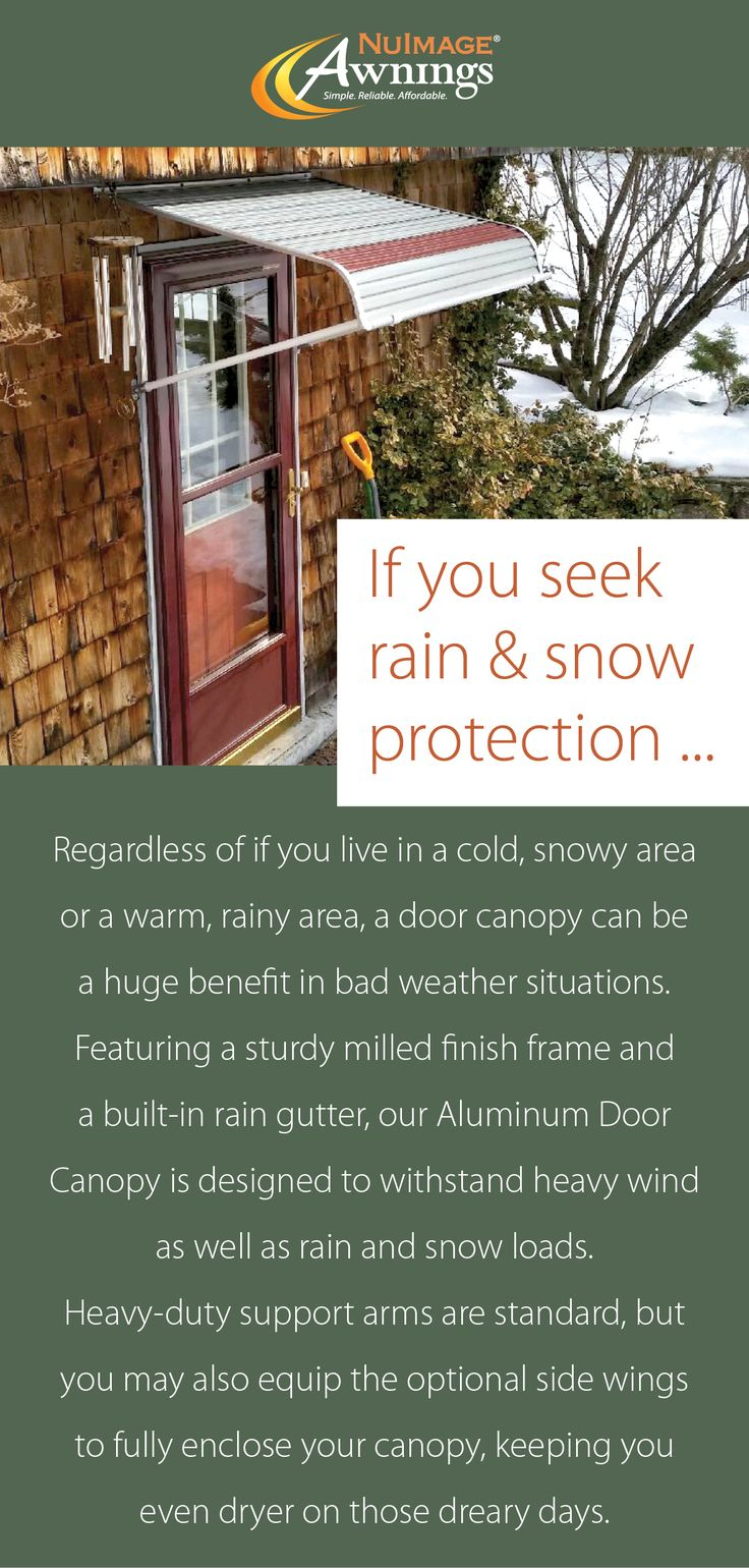 NuImage's Aluminum Awnings and Canopies are the perfect choice when you need protection from the elements.