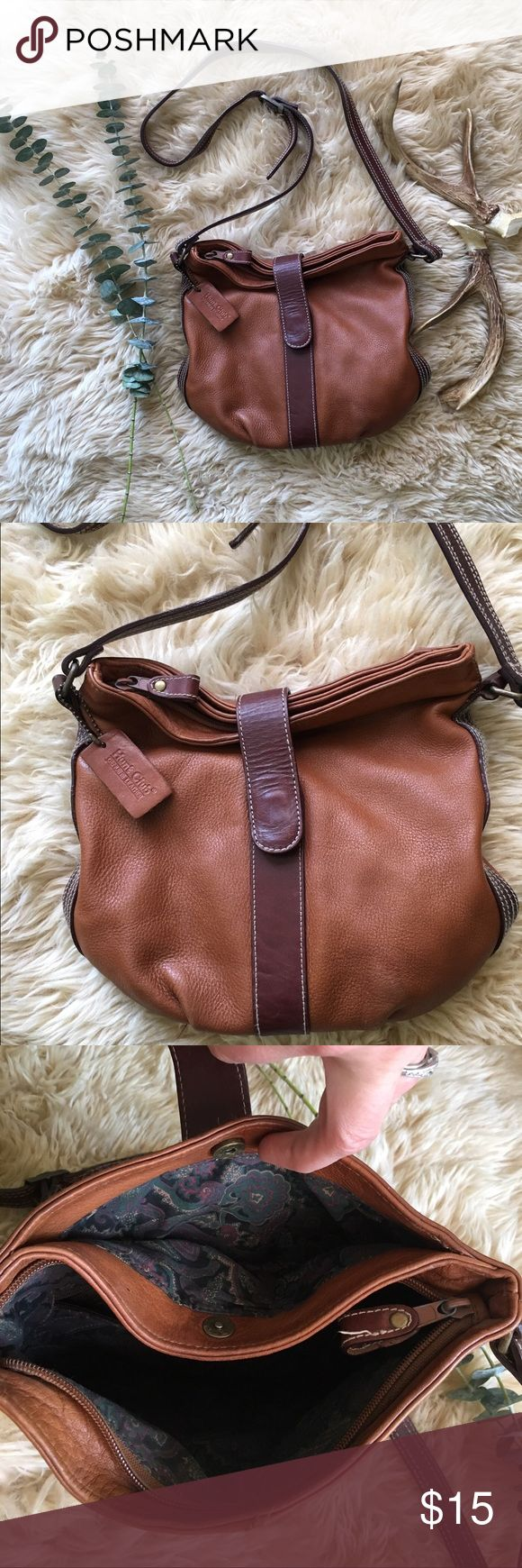 Hunt Club Leather Purse Hunt Club Leather Purse. Cute and slouchy with several storage compartments. Adjustable strap. In good condition with some wear. Hunt Club  Bags