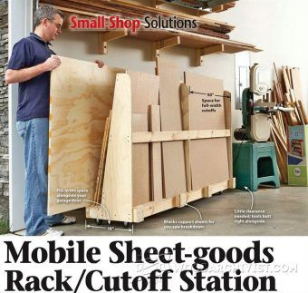 Mobile Plywood Storage Rack Plans - Workshop Solutions Projects, Tips and Tricks   WoodArchivist.com