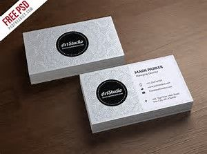 Image result for white business cards