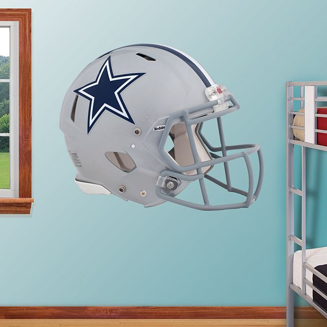 Dallas Cowboys Helmet REAL.BIG. Fathead Wall Graphic | Dallas Cowboys Wall Decal | Sports Home Décor | Football Bedroom/Man Cave/Nursery