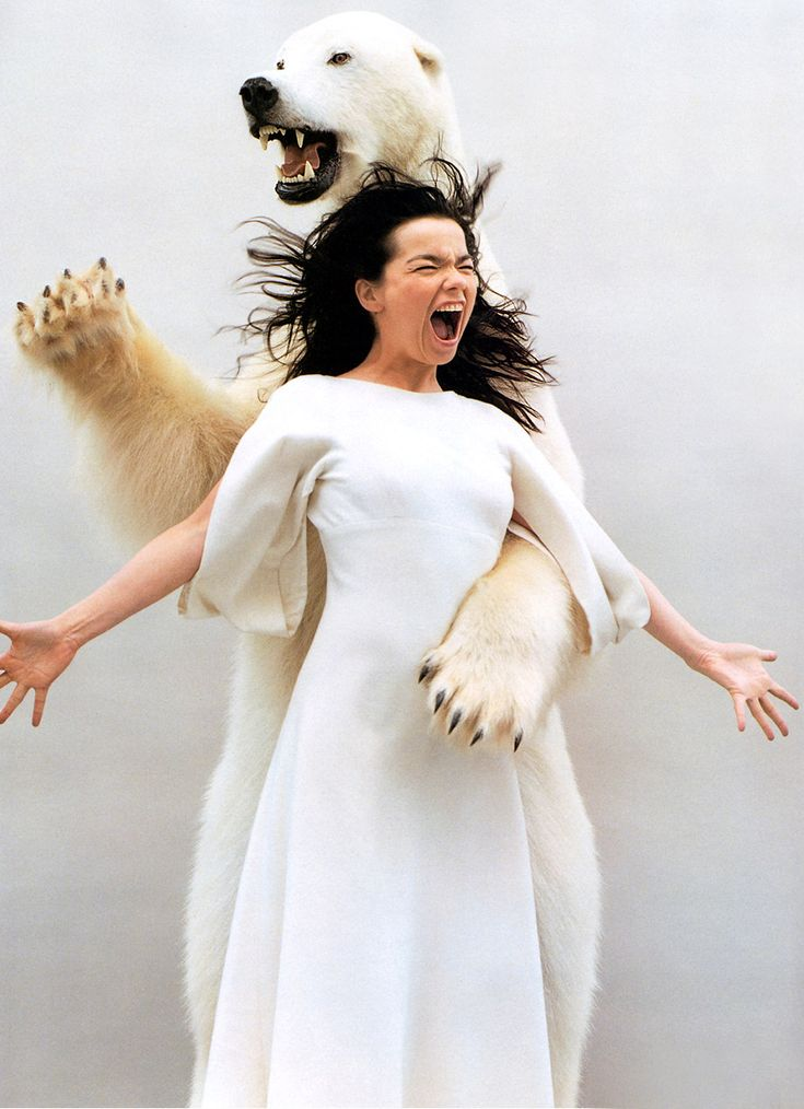 Björk with polar bear by Jean Baptiste Mondino