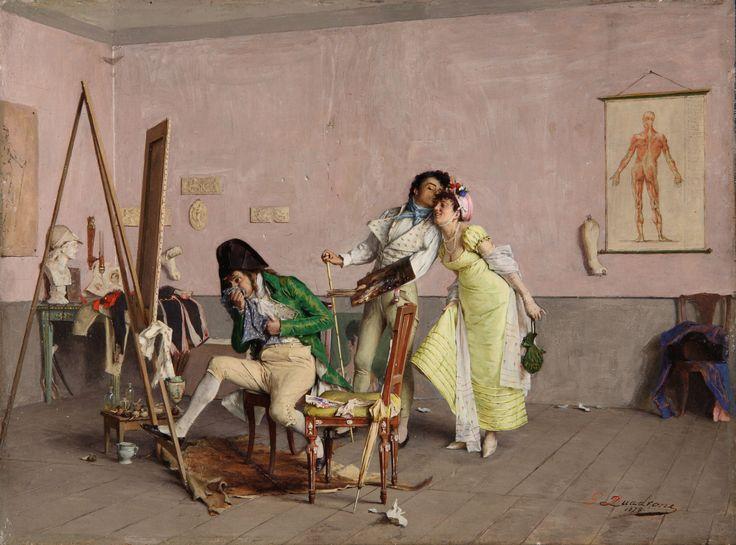 Giovan Battista Quadrone - Ogni occasione è buona - 1878 - collezione privata - courtesy Enrico Gallerie d'Arte, Milano