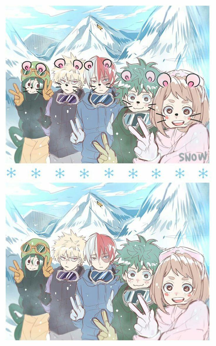 Tsuyu & Bakugou & Todoroki & Midoriya & Uraraka