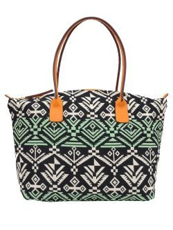 Geanta din material textil cu imprimeu Inca New spring summer collection handbag