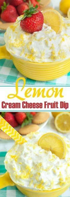 This cream cheese le This cream cheese lemon fruit dip is a...  This cream cheese le This cream cheese lemon fruit dip is a perfect mix of sweet and tangy. Easy appetizer with fresh fruit. Strawberries are my favorite dippers or serve with cookies for a creamy no bake dessert recipe. Make ahead and take to a potluck or party. Great summer or spring dessert recipe. Recipe : http://ift.tt/1hGiZgA And @ItsNutella  http://ift.tt/2v8iUYW