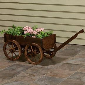 Wooden Planter Wagon Www Teeliesfairygarden This Would Look Absolutely Dazzling In Your Garden The Uniqueness Is