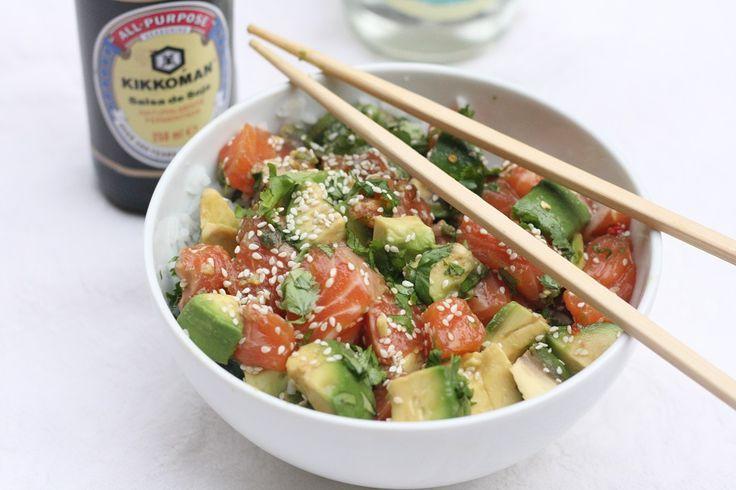 Time for Fashion » Recipes: Salmon & Avocado Poke Bowl