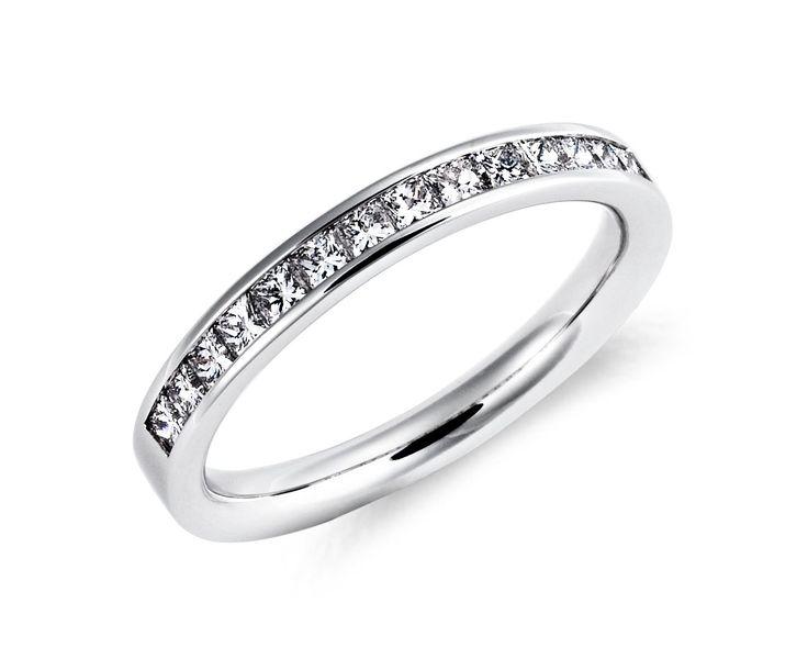 Nice Channel Set Princess Cut Diamond Ring in Platinum BlueNile