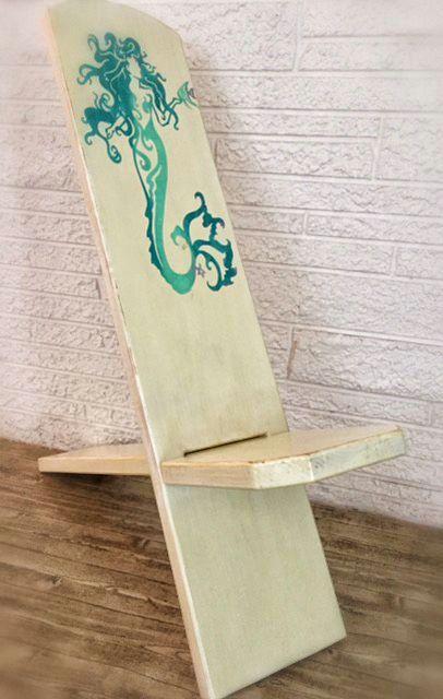 Mermaid Star Gazing Chair Bog Chair Viking by BeachDwellerBoutique