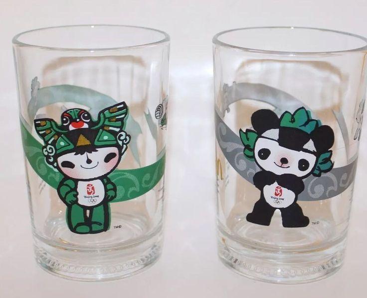 Collectible Beijing Summer Olympics 2008  Mascots Glass McDonald's Set Of 2  | eBay