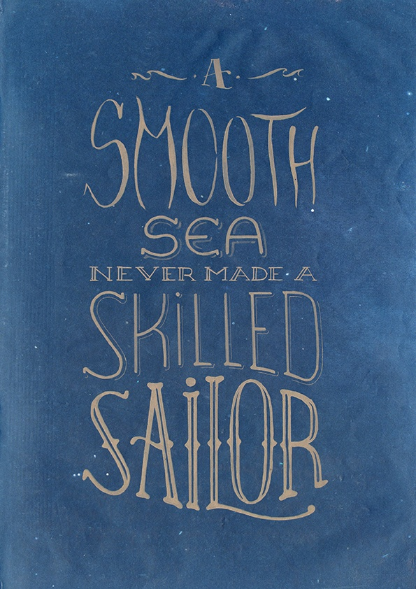 Hand-drawn type (integrated with background) of a nice quote about life :)