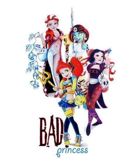 Ember Willowtree: 'Bad Princess' Las Princesas de Disney son transformadas artísticamente en villanas
